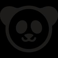 Chinese Panda bear vector