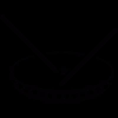 Dish with chopsticks vector logo