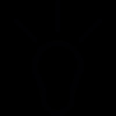 Idea bulb vector logo