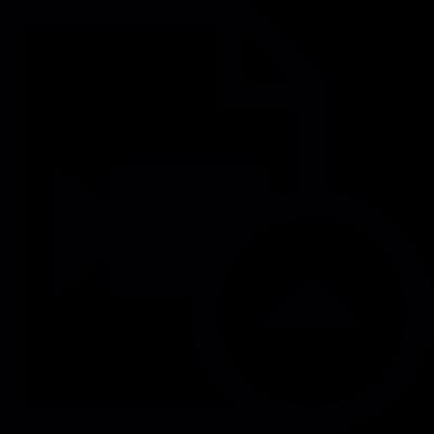 Video file upload vector logo