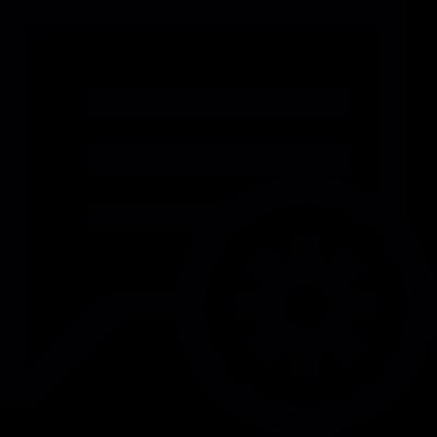 Comment settings vector logo