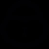 Heart shaped lock vector