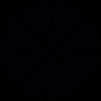 Basketball ball with line vector