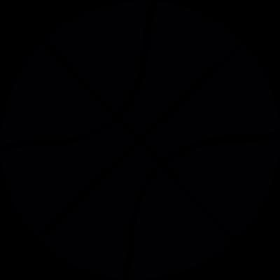 Basketball ball with line vector logo