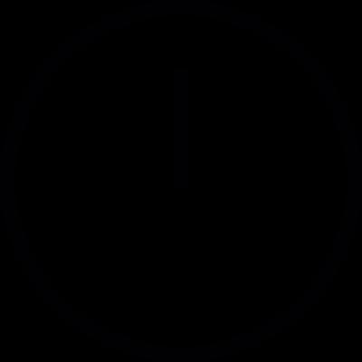 Circular Clock with On Clock Hand vector logo