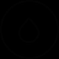 Drop inside a circle vector