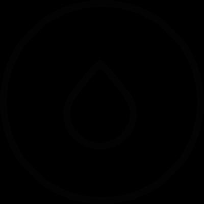 Drop inside a circle vector logo