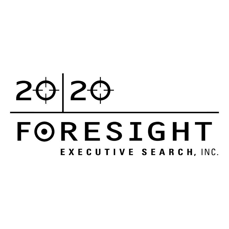 20 20 Foresight Executive Search vector