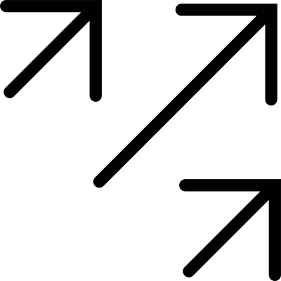 Three Diagonal Right Arrows Pointing Up vector logo