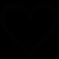 White heart vector