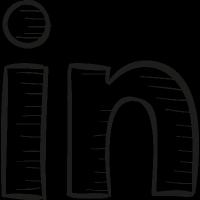 Linkedin Draw Logo vector