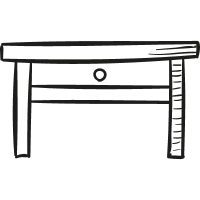 Bedside Table vector