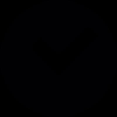 Round Check Box vector logo