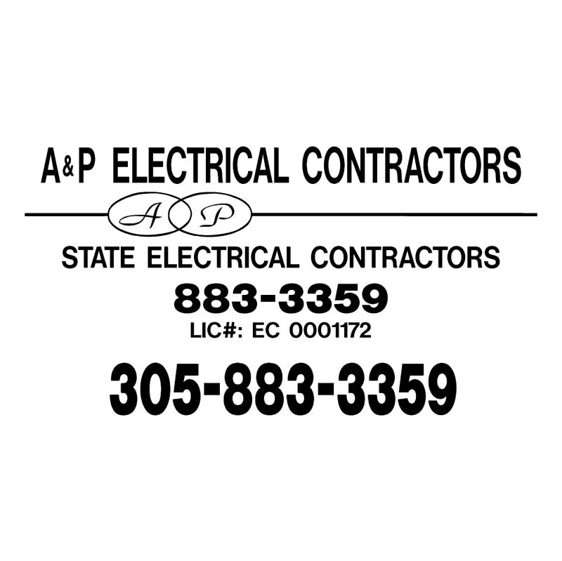 A&P Electrical Contractors vector