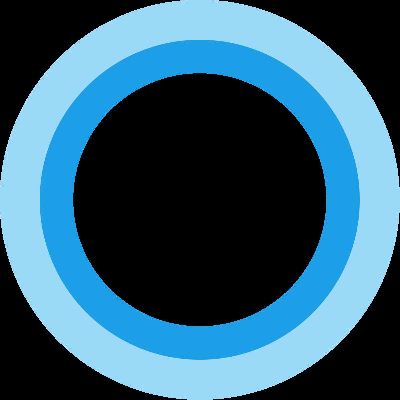Cortana Microsoft vector
