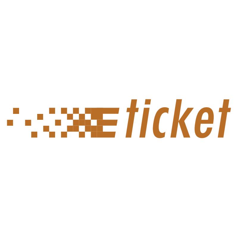 e Ticket vector logo