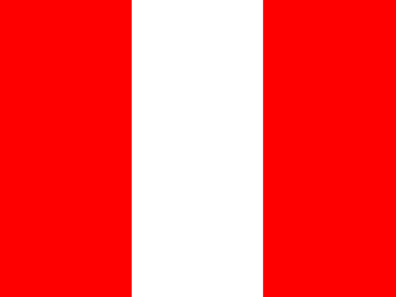 Flag of Peru vector