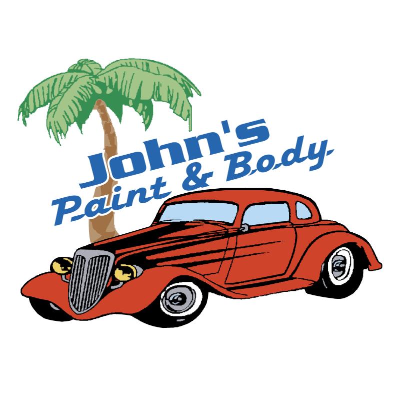 John's Paint & Body vector