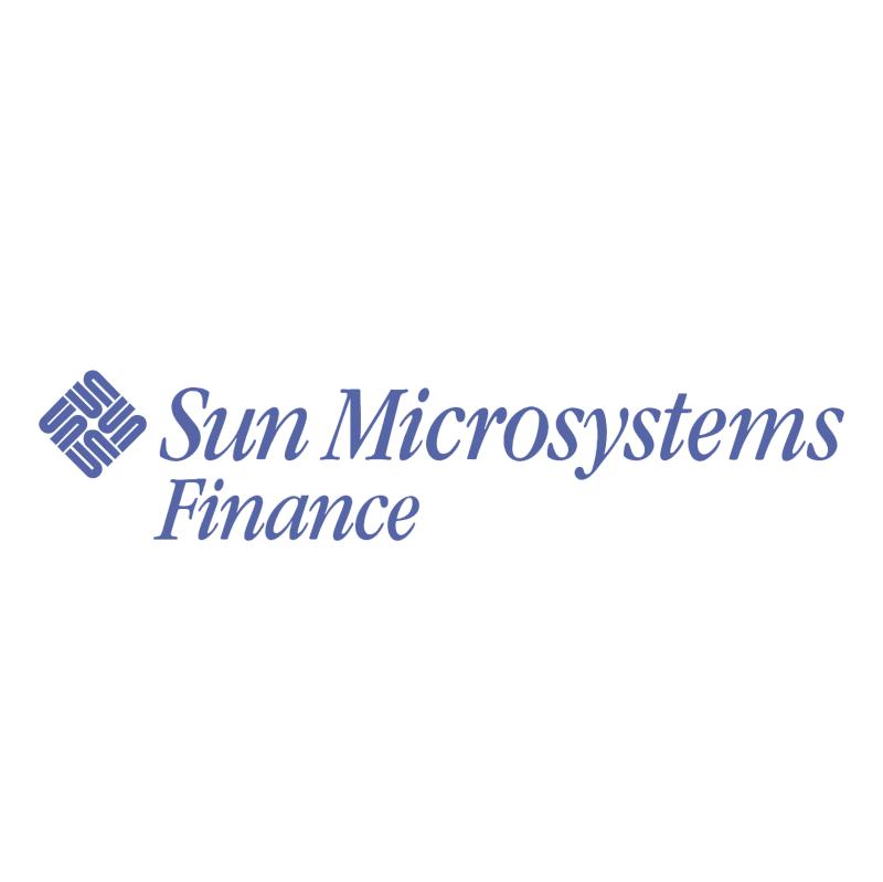 Sun Microsystems Finance vector