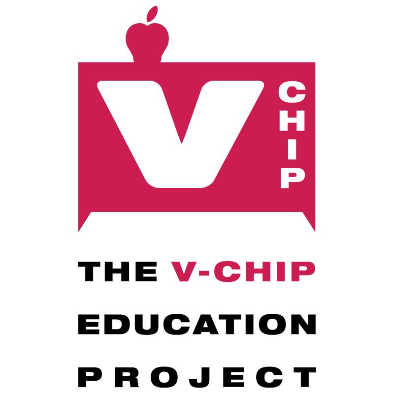 V chip Education Project vector logo