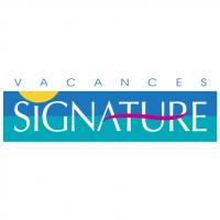 Vacances Signature vector
