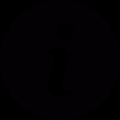 Information button vector logo