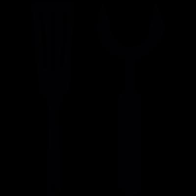 Barbacue utensils vector logo