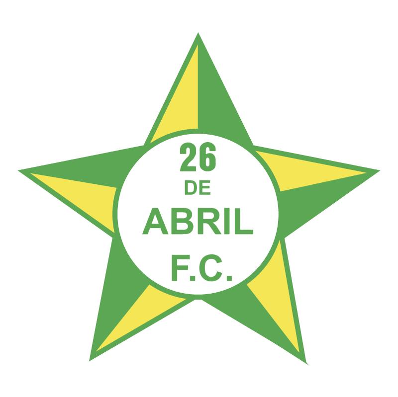 26 de Abril Futebol Clube do Rio de Janeiro RJ vector