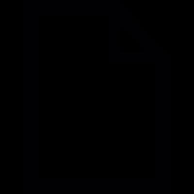 Paper sheet outline vector logo