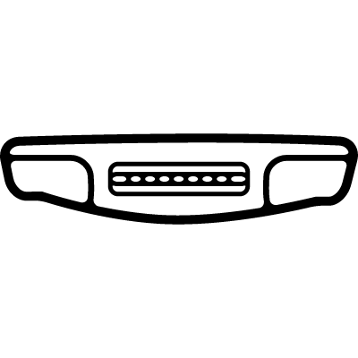 Phone from bottom view with long electrical connection vector logo