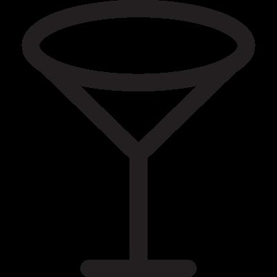 Empty Wine Glass vector logo