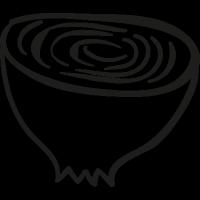 Half an Onion vector
