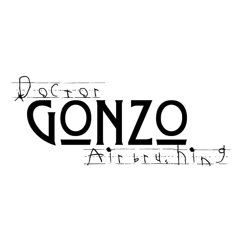 Doctor Gonzo Airbrushing vector logo
