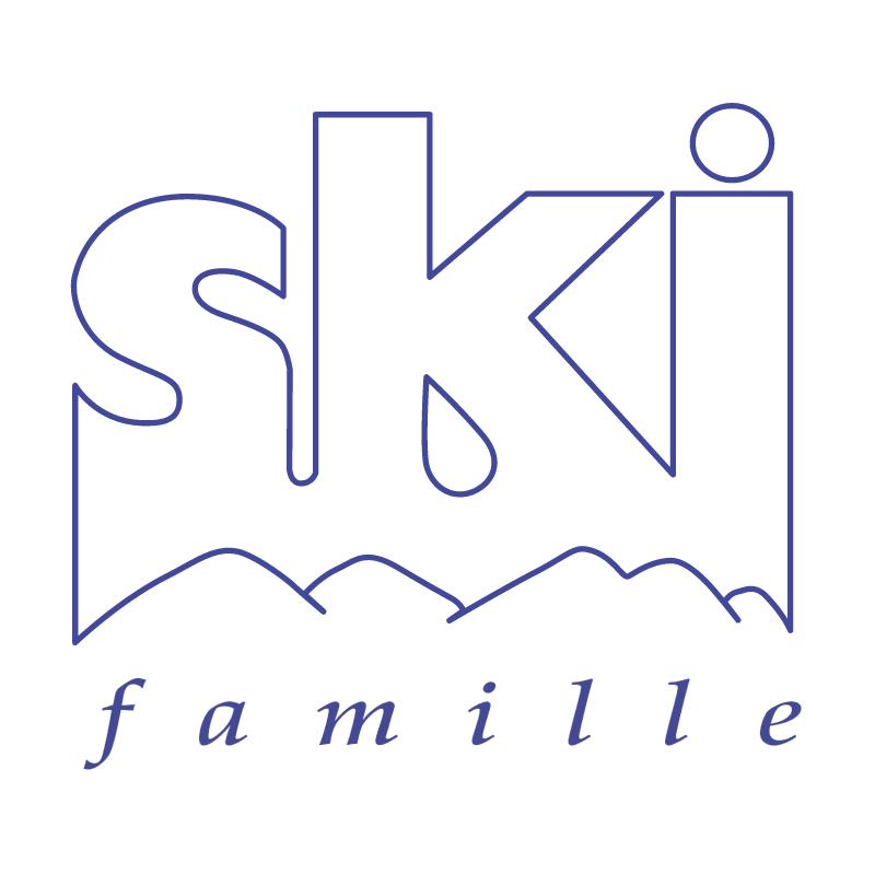 Ski Famille vector