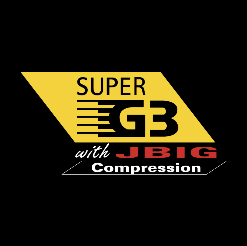 Super G3 with JBIG Compression vector