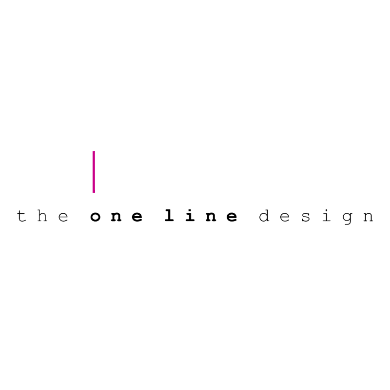 the one line design vector
