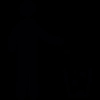 Person recycling vector logo