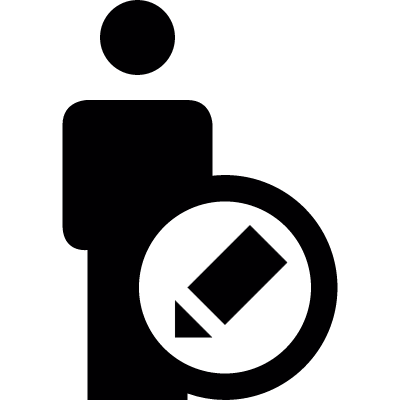Edit User Profile vector logo