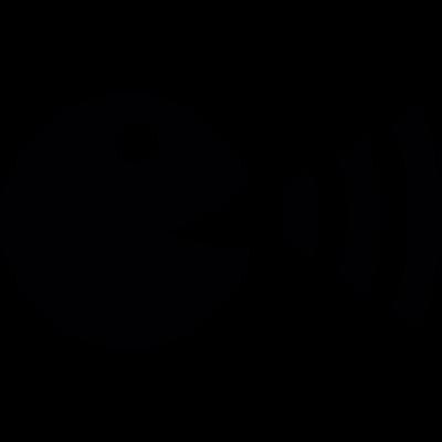 Talking pac man vector logo
