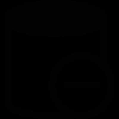Database remove button vector logo