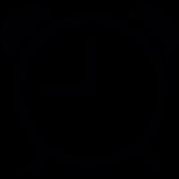 Round alarmclock vector