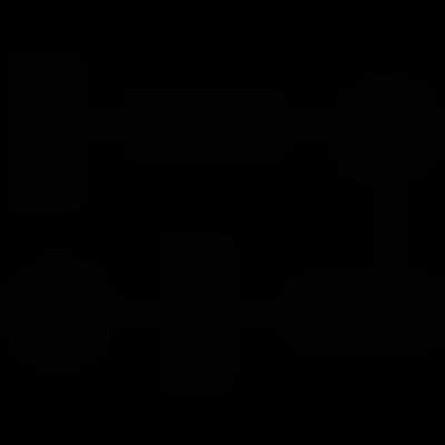 Process graph vector logo