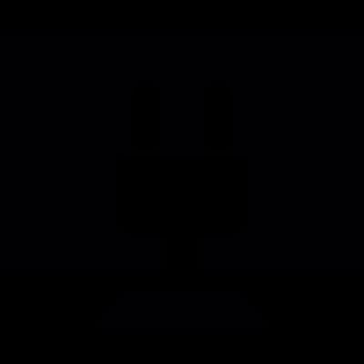 Computer screen with socket vector logo