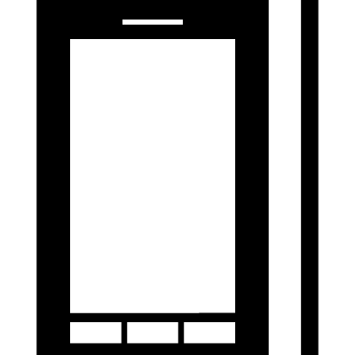 Phone from two view front and side vector logo