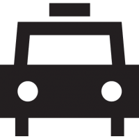 Frontal taxi vector