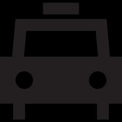 Frontal taxi vector logo