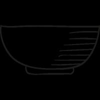 Empty Bowl vector