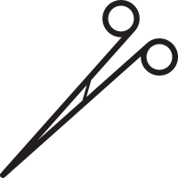 Surgical Scissors vector