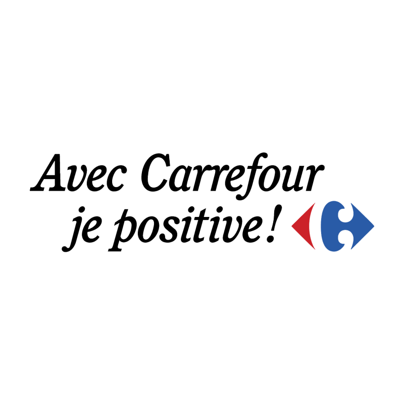 Avec Carrefour je positive! vector