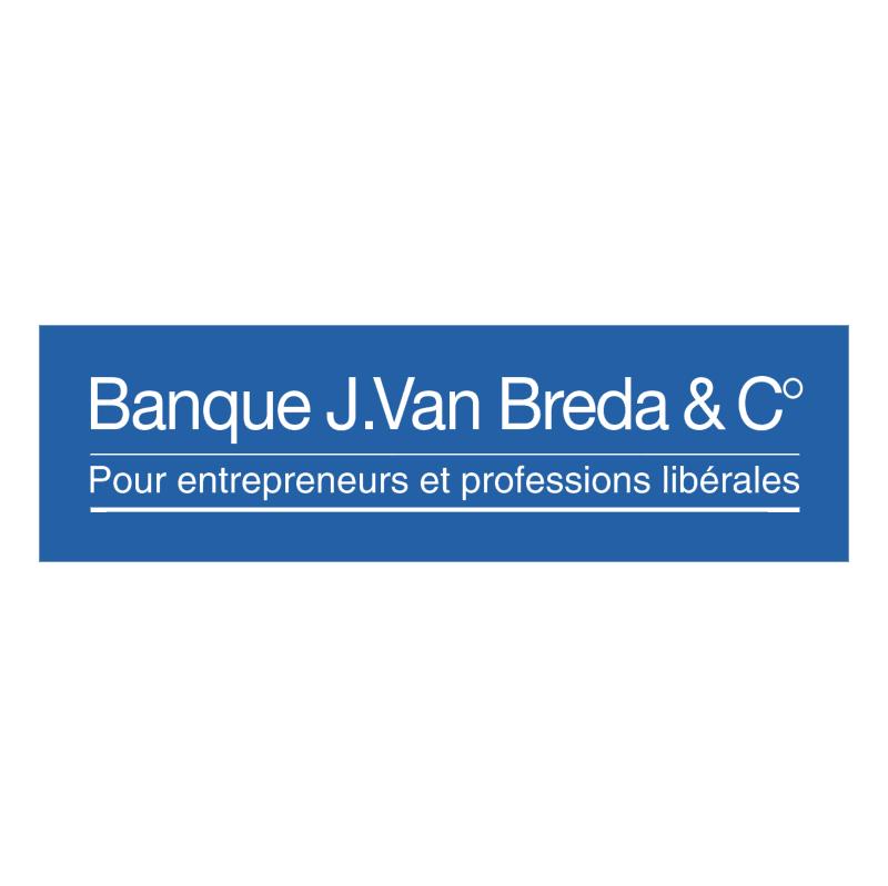Banque J Van Breda & C vector